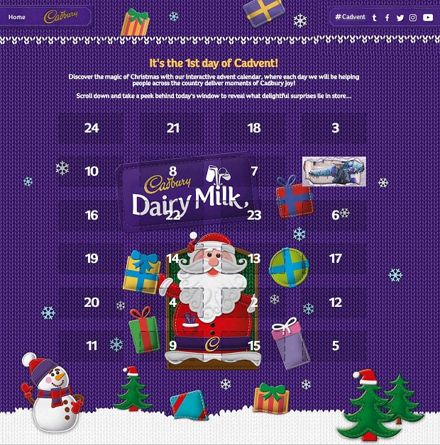 Cadbury Rings in a #Cadvent Christmas with Yahoo Storytellers