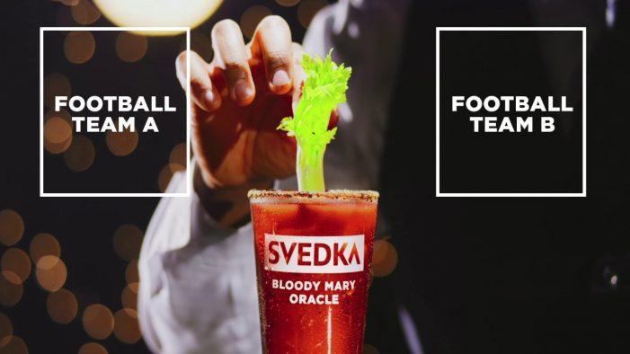 Bensimon Byrne Predicts NFL Games for SVEDKA Vodka with Celery-Precision