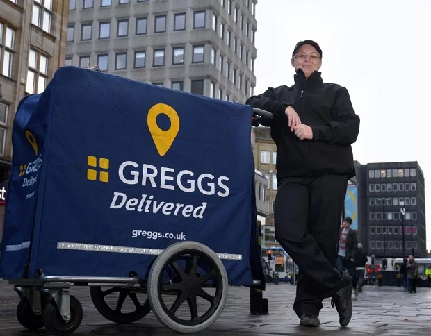 Greggs Trials Delivery Service in London and Newcastle