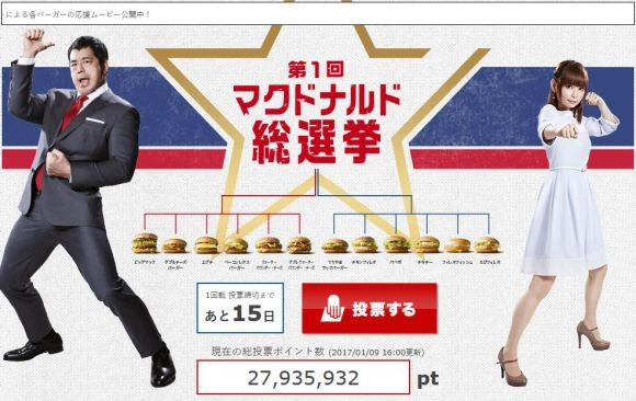 McDonald's Japan Holds 'General Election' for Burger Upgrade