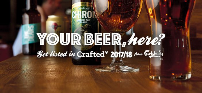 Carlsberg UK Give a Chance to Craft Brewer or Importer to Get their Beer Listed in 'Crafted 2017' Range