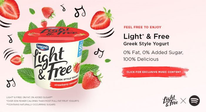 Danone Light & Free Partners with Spotify in an Exclusive Music Campaign