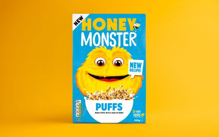 Honey Monster Puffs' Rebrand Looks to Put them Back at the Head of the Breakfast Table
