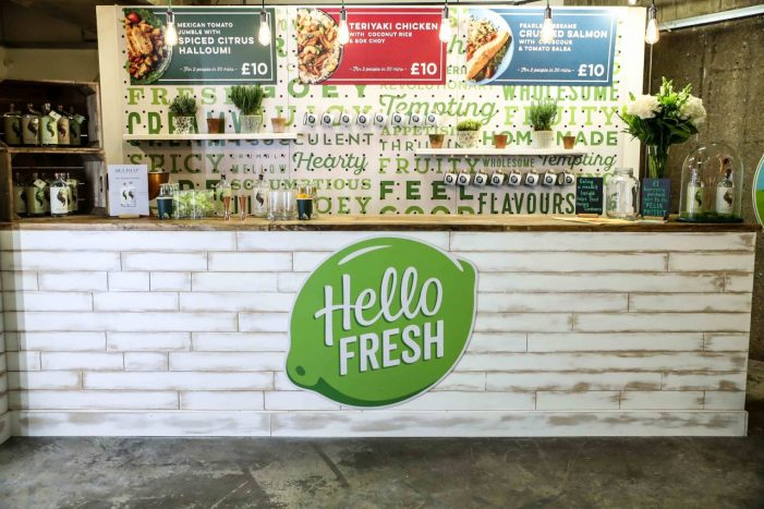 Hello Fresh Unveils Bricks and Mortar London Pop-up Aimed at Busy Commuters