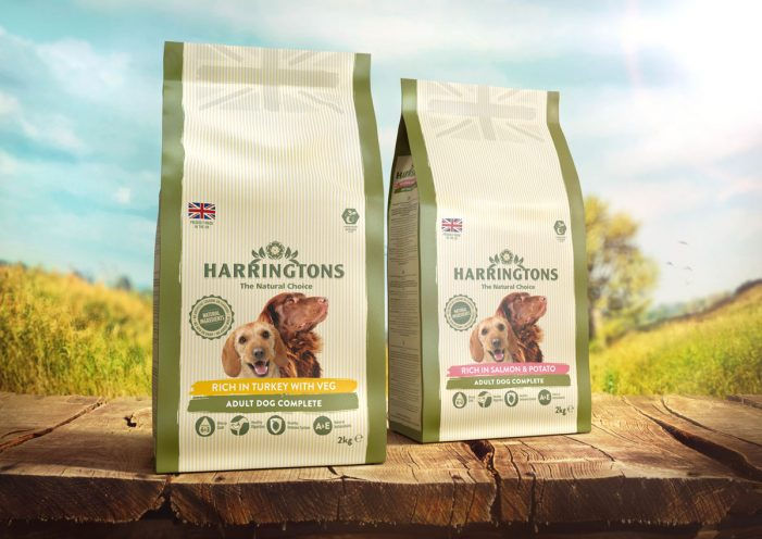 Harringtons Dog Food Launches New Crafted Look Packaging by Hornall Anderson
