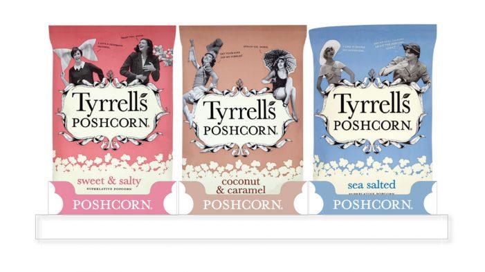 SAICA Pack Puts the 'Posh' into Tyrrells Poshcorn Packaging