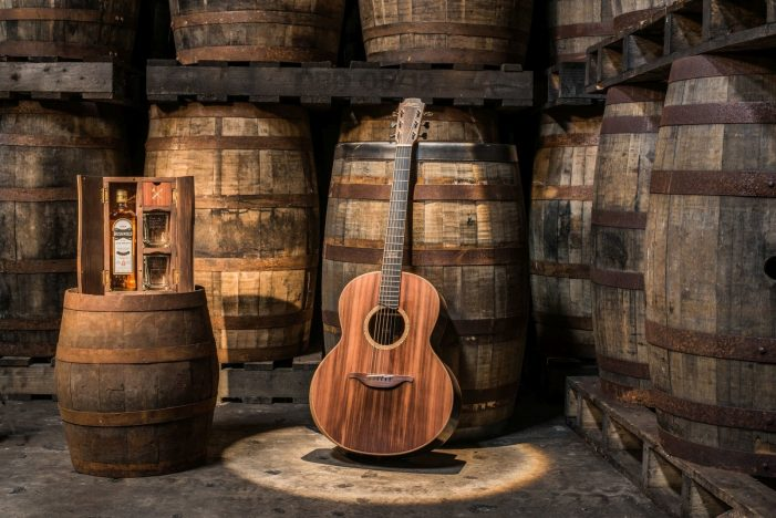 Bushmills and Lowden Launch Limited Edition Guitar Made from Whiskey Barrels and Ancient Bog Oak