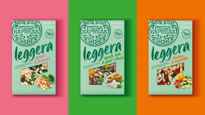 PizzaExpress launches new 'healthier' Leggera retail range with contemporary packaging design by Bulletproof