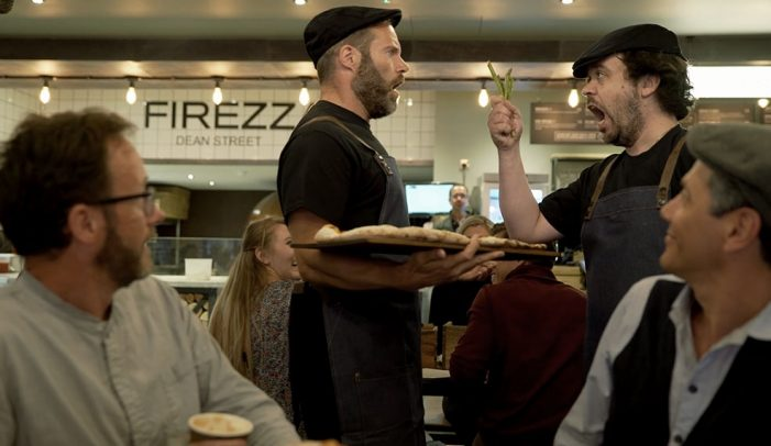 Firezza Customers Treated to Impromptu Musical Performance by Sacla' and Aldo Zilli