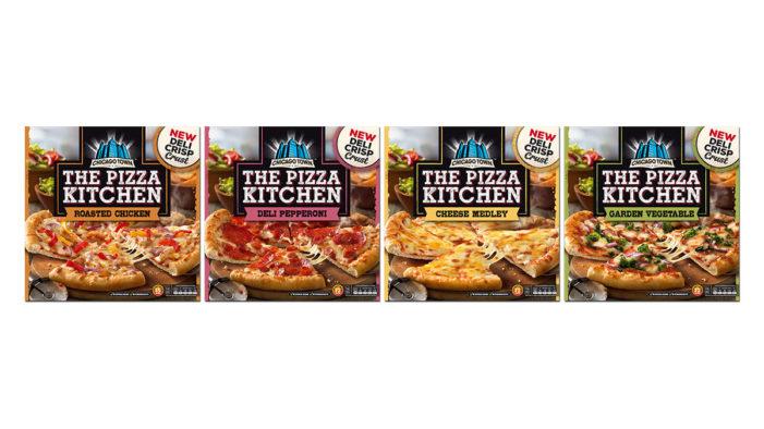 DECIDE. brands new sub brand frozen pizza range 'The Pizza Kitchen' for Chicago Town