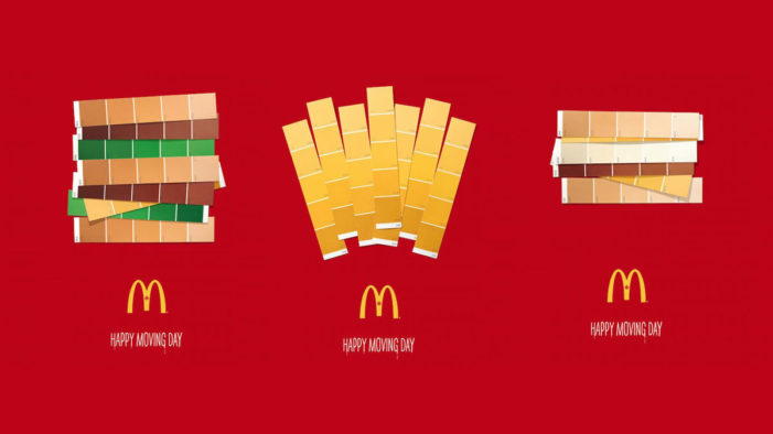McDonald's Recreates Three of its Most Popular Items with Only Paint Swatches
