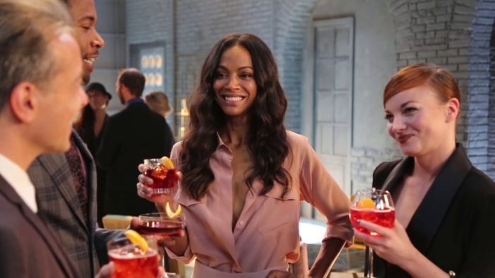 Zoe Saldana Scorches In Red As Star Of 2018 Campari® Red Diaries