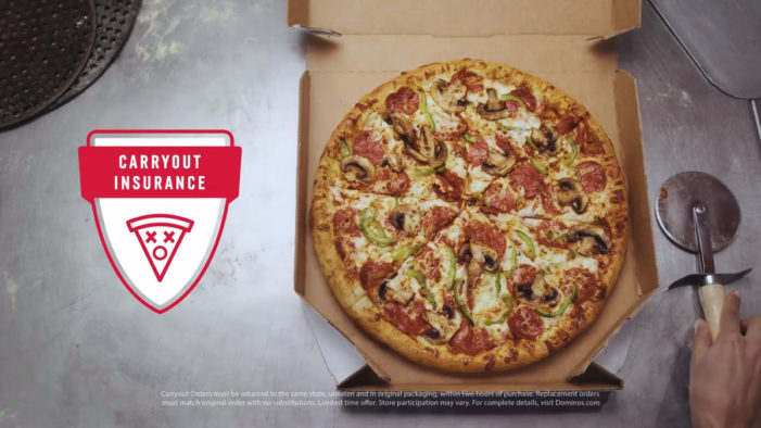 Domino's New Carryout Insurance Plan Offers Food Shoppers Pizza Mind