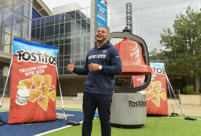 Tostitos Partners with The Salvation Army and Dak Prescott to Get Fans to 'Chip In' this Holiday Season