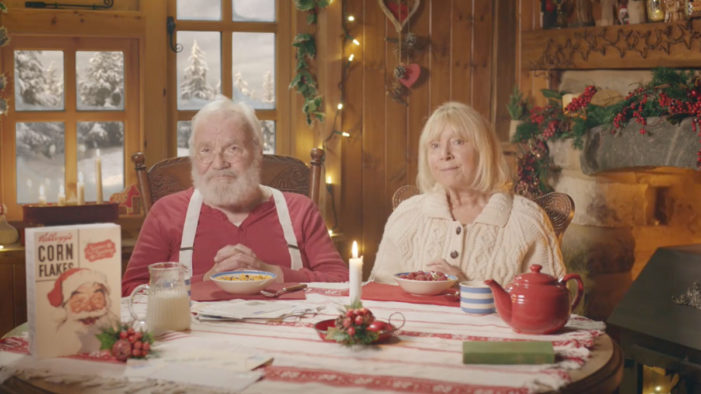 Kellogg's Visits the North Pole to See How Santa Eats His Corn Flakes