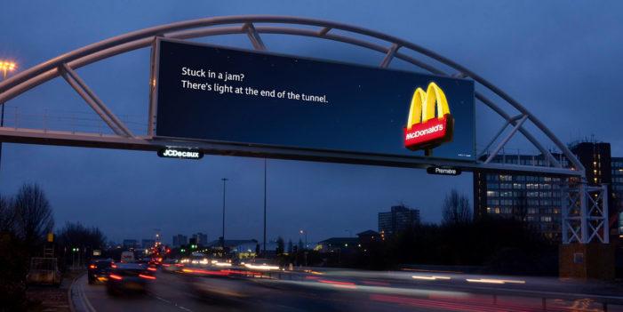 Leo Burnett's Digital Billboards For McDonald's Change Depending On How Bad The Traffic Is