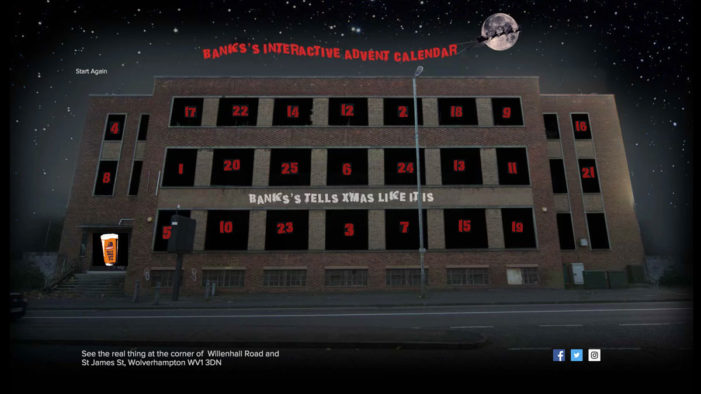 Banks's Giant Advent Calendar is Brutally Honest About Christmas