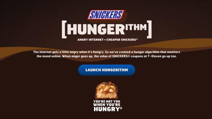 Snickers and Clemenger BBDO Melbourne's Award-Winning 'Hungerithm' Goes Global