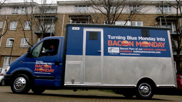 JWT London and Holiday Inn Express Turn Blue Monday into Bacon Monday