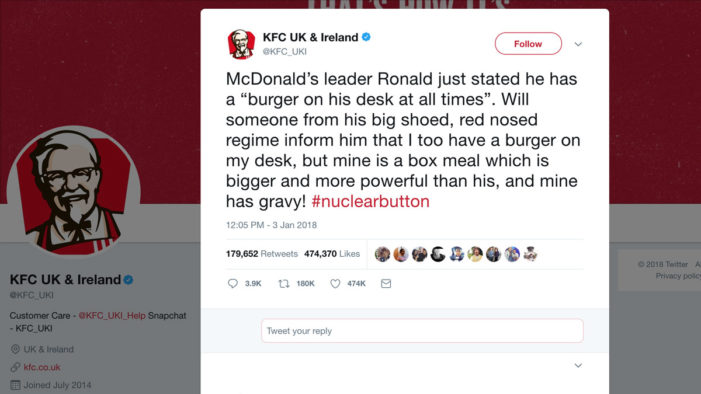 KFC Takes a Page Out of Donald Trump's Playbook in Parody Tweet About McDonald's