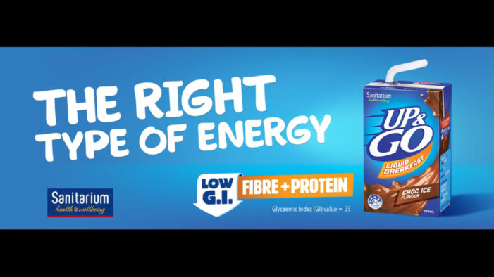 Up&Go Launches New 'The Right Type of Energy' Campaign in Australia and New Zealand