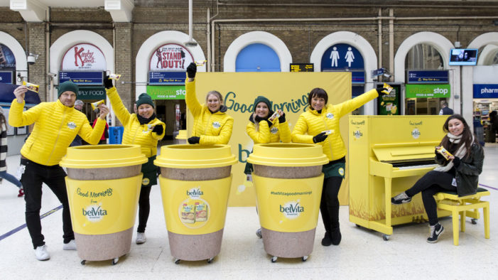 belVita Brings 'Good Mornings' Campaign to Train Stations Across the UK