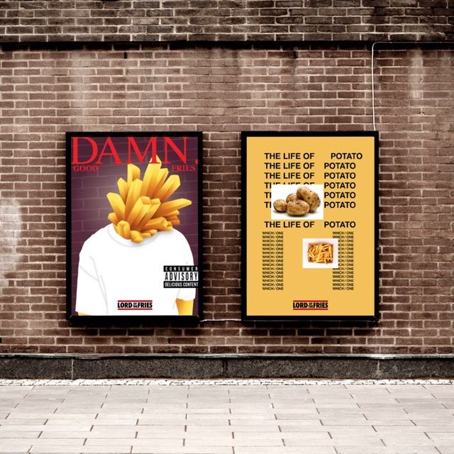 Lord of the Fries Pays Homage to its Hip-Hop Roots via a 'Damn' Good Poster