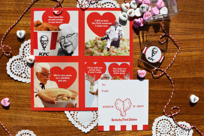 KFC Helps Spread the Love with the Sensual Scent of Fried Chicken Scratch 'N' Sniff Valentine's Day Cards