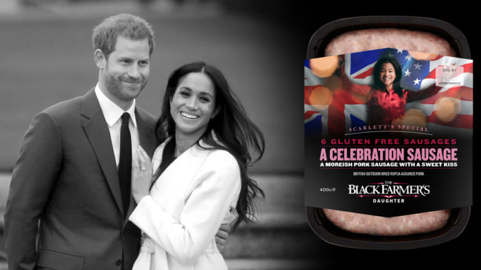 The Black Farmer Gear Up for the Royal Wedding with a Limited Edition Sausage
