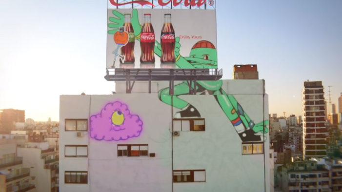 New Coca-Cola Ad Features Adorable Mural Characters Thirsty for its Cold Bottles