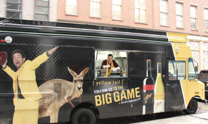 Yellow Tail Returns to Hawk Wine During Super Bowl and Deliver Sandwiches to Fans