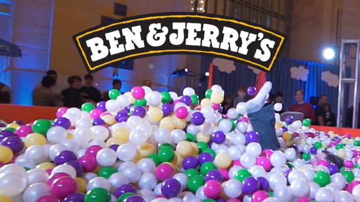 Ben & Jerry's Creates Colourful Ball Pit for 40th Birthday
