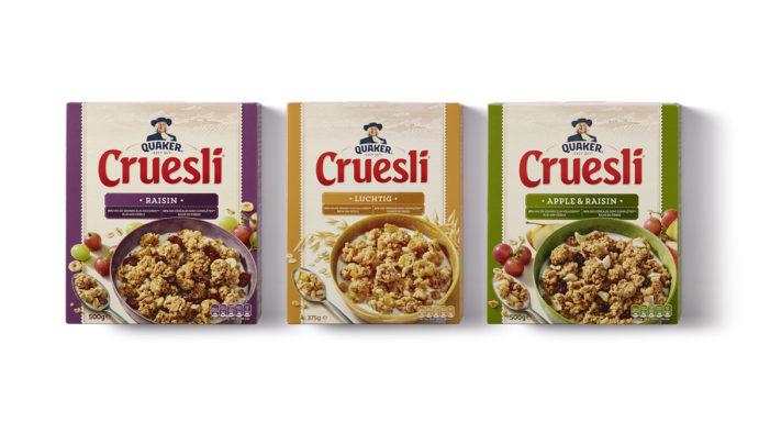PROUDdesign Develop New Packaging Design For Quaker Cruesli
