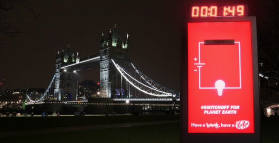 KitKat Has a Break from Electricity in Support of Global Energy Conservation Event