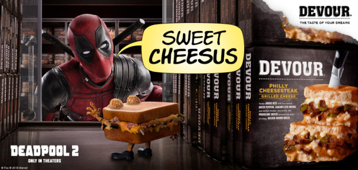 Deadpool 'Sells Out' in New Campaign for Devour Frozen Sandwiches