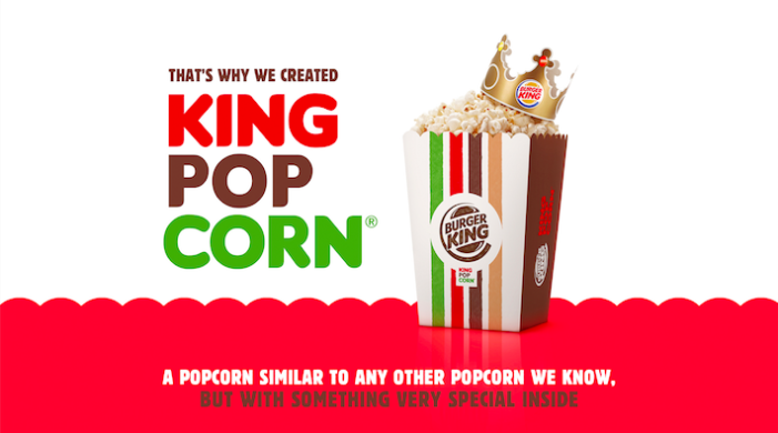 """Burger King Hacks Peruvian Law in Movie Theaters With """"King Popcorn"""" Campaign by McCann Lima"""
