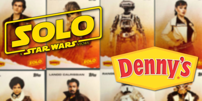 "Denny's Puts Fans at the Table to Roll Dice Inspired by ""Solo: A Star Wars Story"" and Win Big"