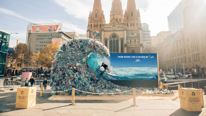 Corona Hijacks Symbols of Paradise in Awareness Campaign for Marine Plastic Pollution