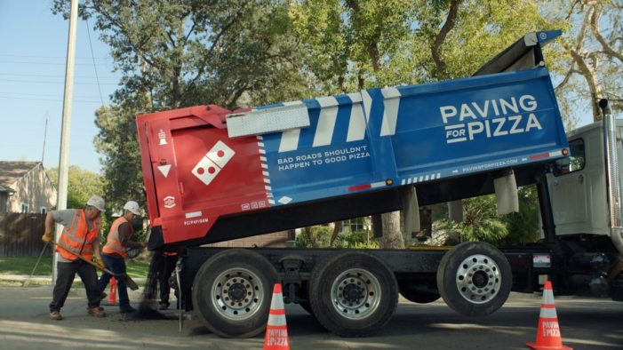Domino's is Paving Roads in the US for the Sake of the Pizza