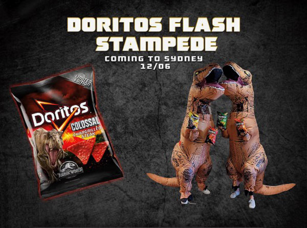 Doritos Dinosaurs Stampede the Streets of Sydney in New Guerilla Campaign