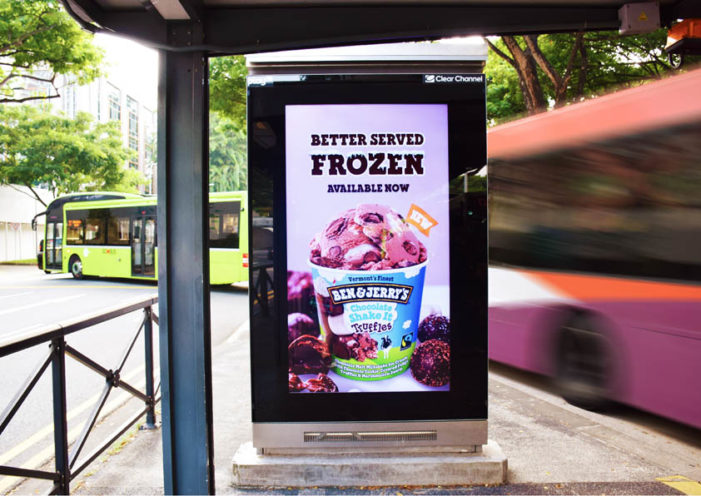 Your favourite Ben & Jerry's beverages are better served frozen in a campaign via Clear Channel