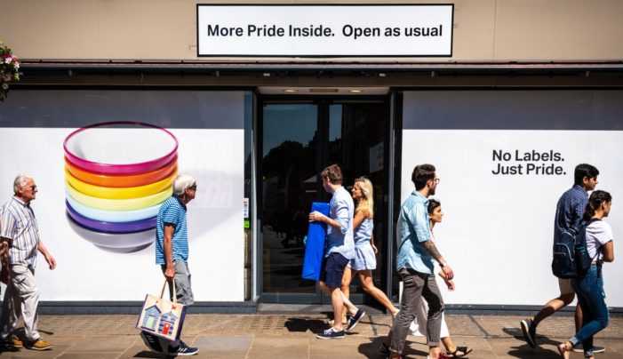 YO! Sushi Abandons Branding for Pride in London 2018