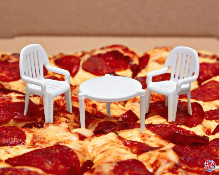 Boston Pizza Turns Takeout Pizza Savers into Mini Patio Sets