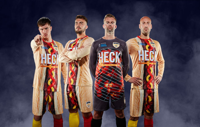 Bedale AFC Make Headlines with the 'Wurst Kit' Ever Sponsored by Heck