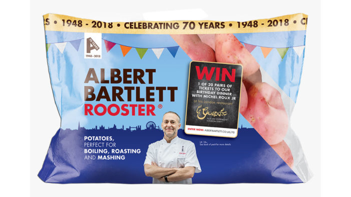 Albert Bartlett Celebrates 70th Anniversary with Retro Packaging and Exciting Competition with Le Gavroche