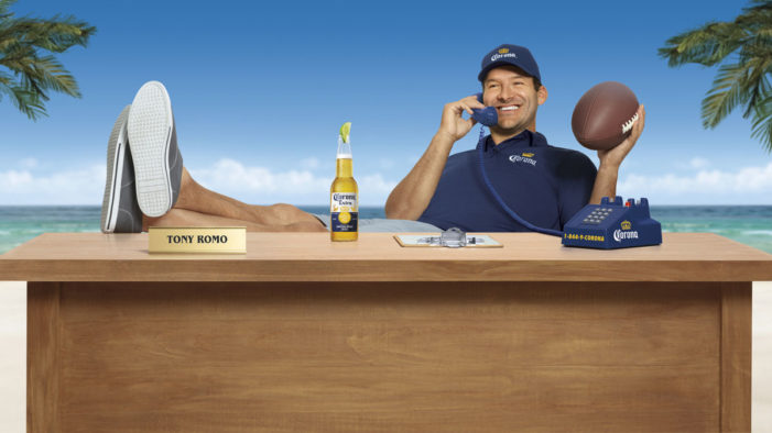 Tony Romo to Operate the Corona Hotline this American Football Season