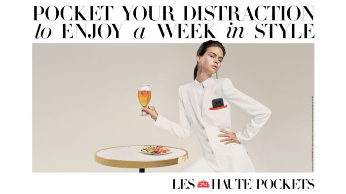 Stella Artois Offers 'Haute Pockets' So Fashion Week Attendees Stash Their Phones During Shows