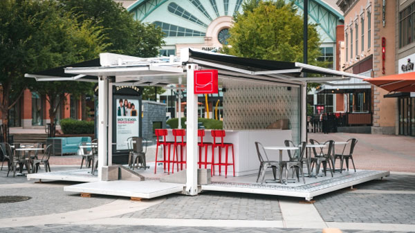 Pop-Up Soda Shoppe Made From Shipping Containers Serves Up 'Coke-tails' at Mall of Georgia