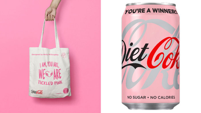 Holly Willoughby Gives Diet Coke a Makeover to Support ASDA Tickled Pink & Breast Cancer Awareness Month