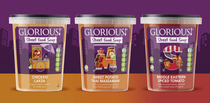 Pure Designs Launch Packaging for Glorious Street Food Soups